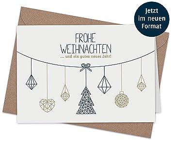 Weihnachtskarten Blanko.20 Klappkarten 20 Umschläge Weihnachtskarten Nordische Weihnacht 165 X 115 Mm Matter Naturkarton Mit Blanko Innenseiten Für