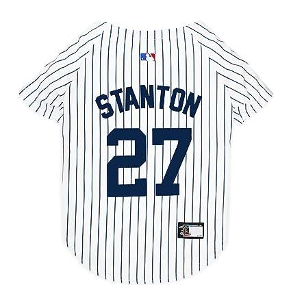 69d4b3b8cf2 MLBPA Dog Jersey - Giancarlo Stanton  27 Pet Jersey - MLB New York Yankees  Mesh