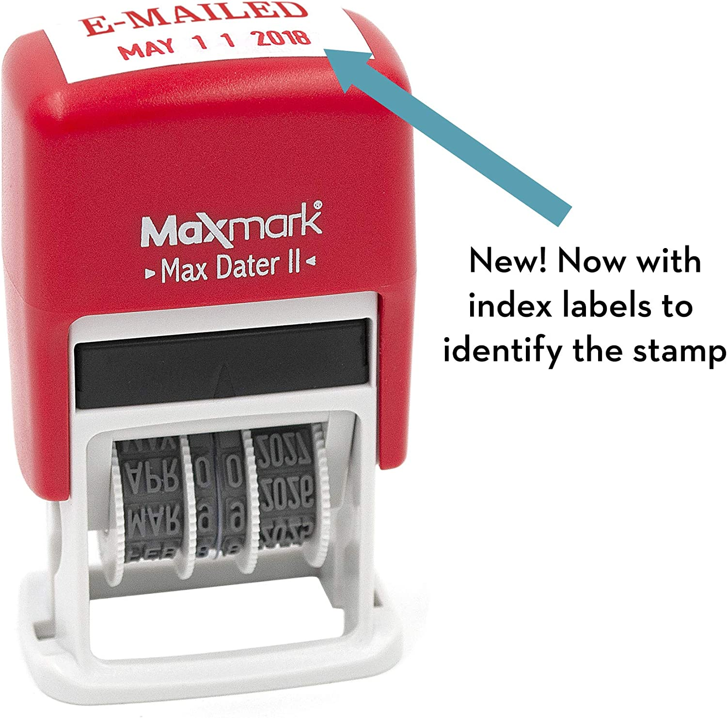 RED Ink 12-Year Band MaxMark Self-Inking Rubber Date Office Stamp with Received Phrase /& Date Max Dater II