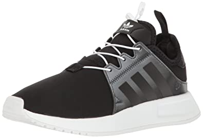 adidas Originals Boys' X_PLR Lentic J Sneaker, Black/Black/White, 3.5