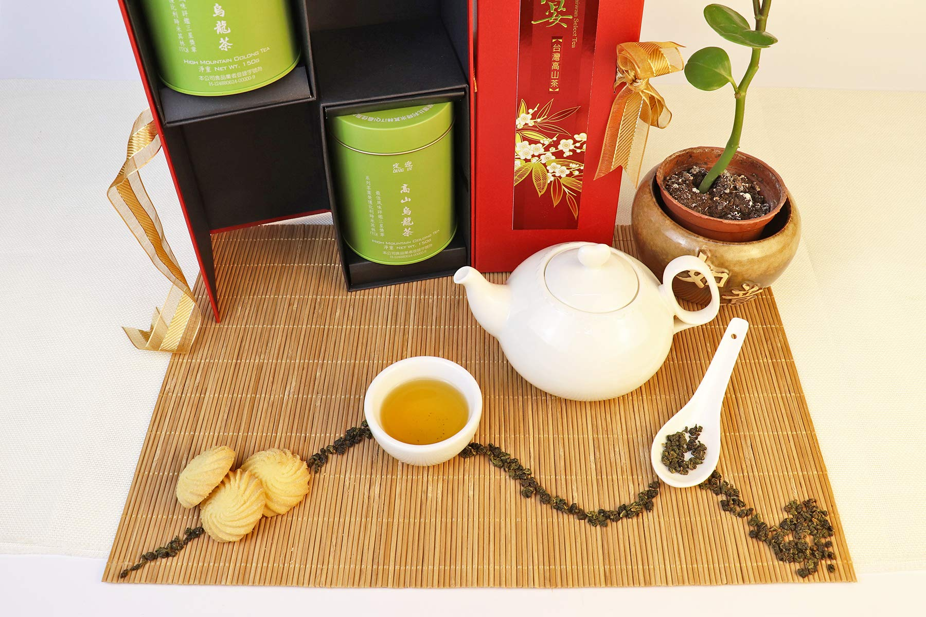 DING IN High-mountain Oolong Tea Feast Straight Gift Box 150g/2cans by Ding In ltd. (Image #3)