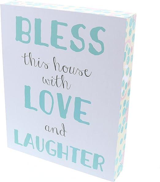 Amazon.com: Bendiga esta casa con amor y la risa arte signo ...