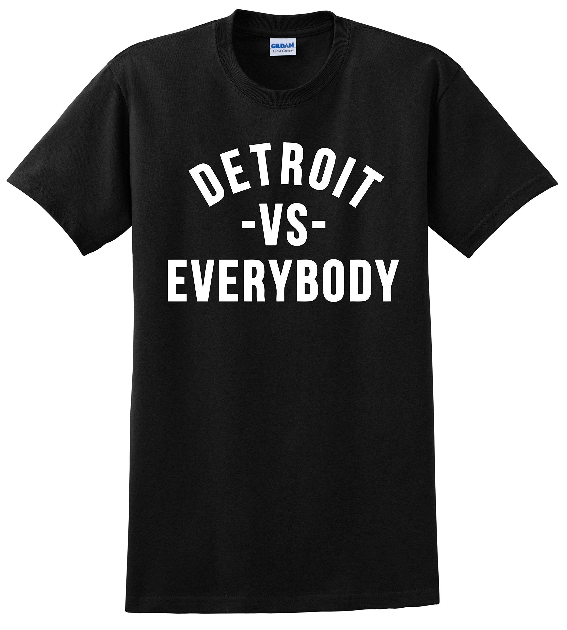 Tshirts Lands Detroit VS Everybody T Shirt No Love Eminem Big Sean Unisex Tee Shirts