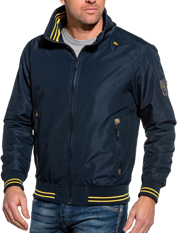 Veste zipépe homme bleu navy liseré jaune