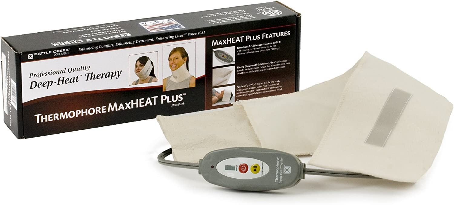 "Thermophore MaxHEAT Plus Moist Heating pad Size Petite 4"" x 17"" - Model 377: Health & Personal Care"