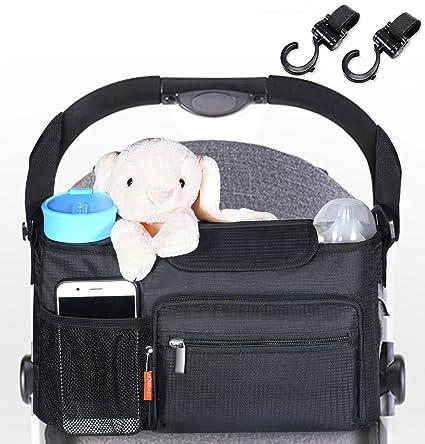 HOMEASY Almacenamiento Organizador Bolsa de Cochecito Bolsos para Bebes Impermeable Universal Desmontable Cambiador de Pañales Organizador
