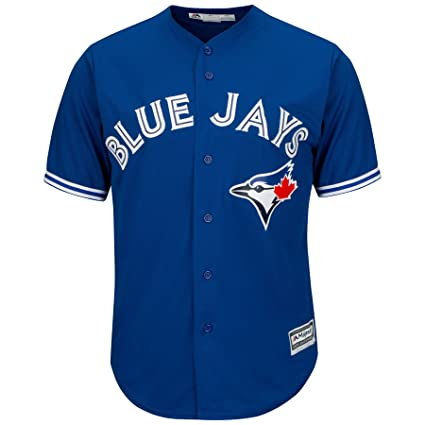 363852d68 Amazon.com   Toronto Blue Jays Alternate Blue Cool Base Jersey (Large)    Sports   Outdoors
