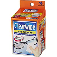 Clearwipe Lens Cleaner 20 Wipes, 20 count, Pack of 20