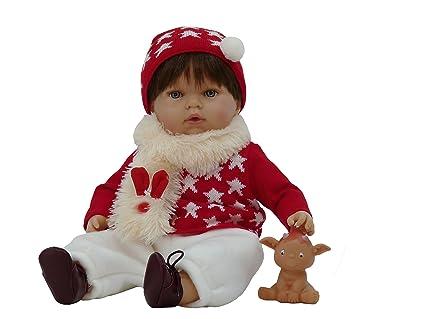 Muñeco Tito con duendecillo de regalo (R/1020), bebé con un carita muy graciosa, de cuerpo blando y jersey de lana y con un gracioso duendecillo para ...