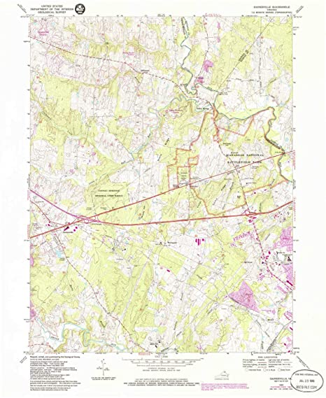 Amazon Com Yellowmaps Gainesville Va Topo Map 1 24000 Scale 7 5