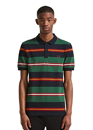 f064acd34e Fred Perry Men's Contrast Stripe Polo Shirt M5507 608 Navy: Amazon.co.uk:  Clothing