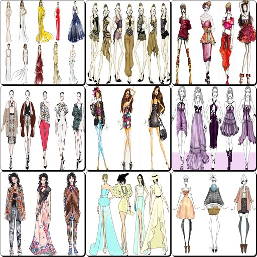 Amazon Com Fashion Design Flat Sketches 2017