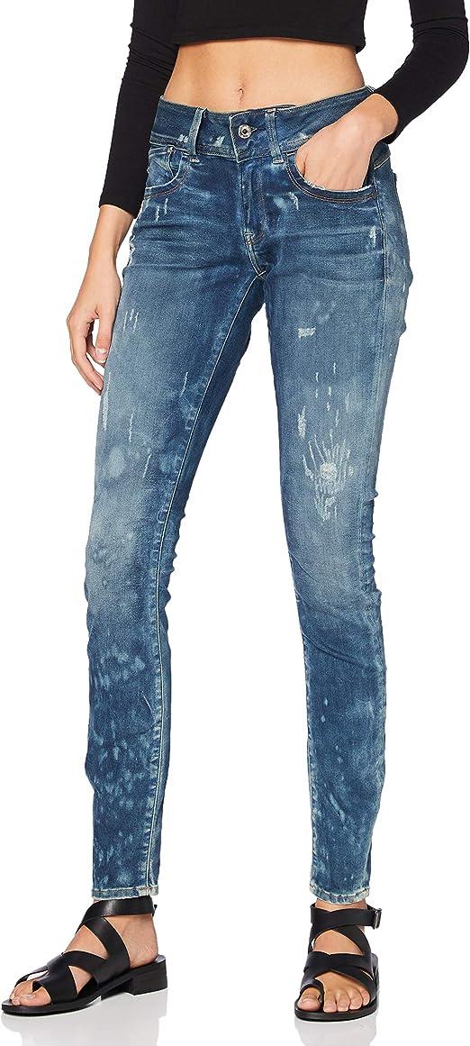 TALLA 25W / 30L. G-STAR RAW Lynn Mid Skinny New Jeans Vaqueros para Mujer