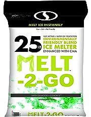 Snow Joe Melt-2-Go Nature + Pet Friendly Cma Blended Ice Melter, 25-lb Resealable Bag