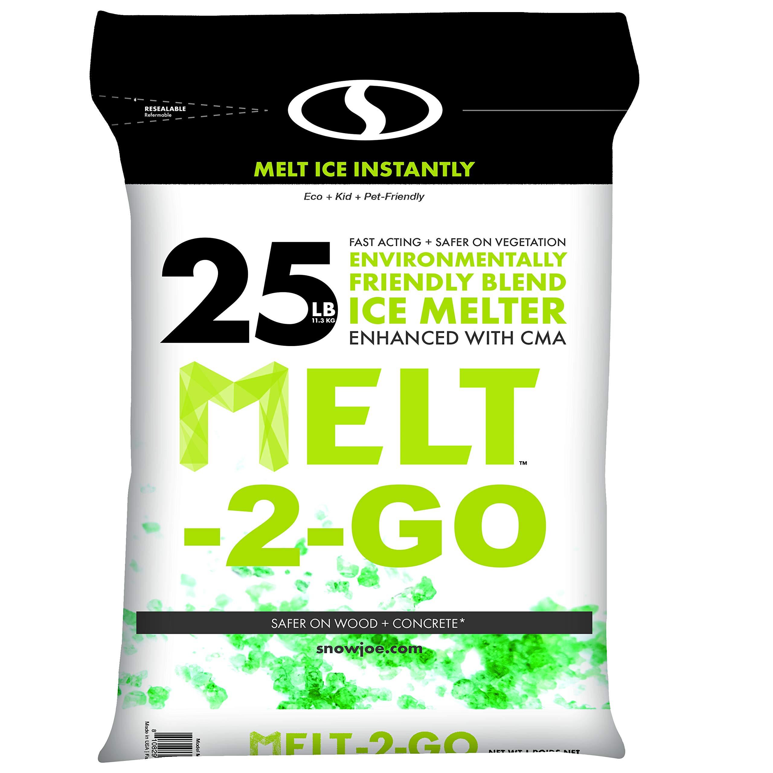 Snow Joe AZ-25-EB Melt-2-Go Nature + Pet Friendly CMA Blended Ice Melter, 25-lb Bag by Snow Joe