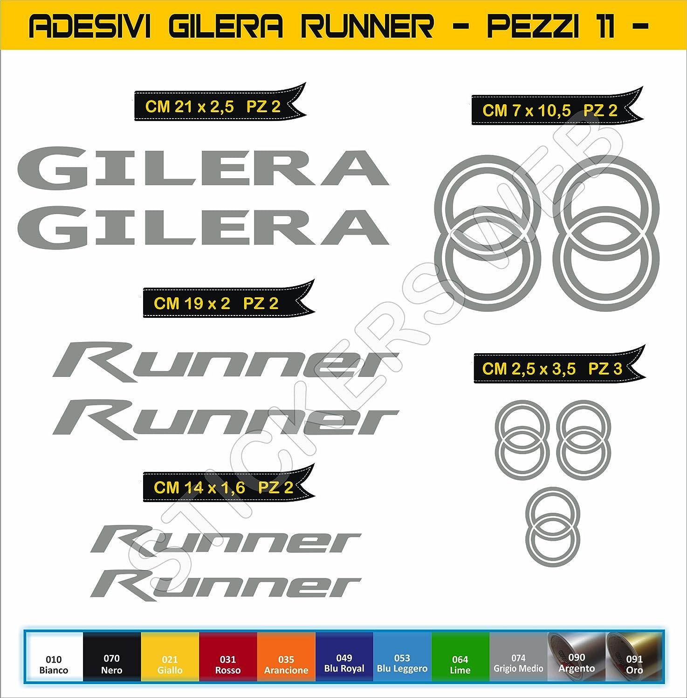 Moto Motorbike cod.0559 Adesivi Stickers GILERA Runner Kit 11 Pezzi Scegli Colore