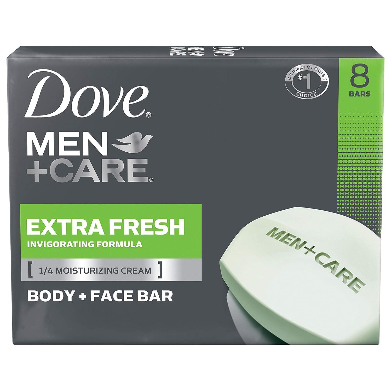 Dove Men+CareBody and Face Bar, Extra Fresh, 4 oz, 8 Bar