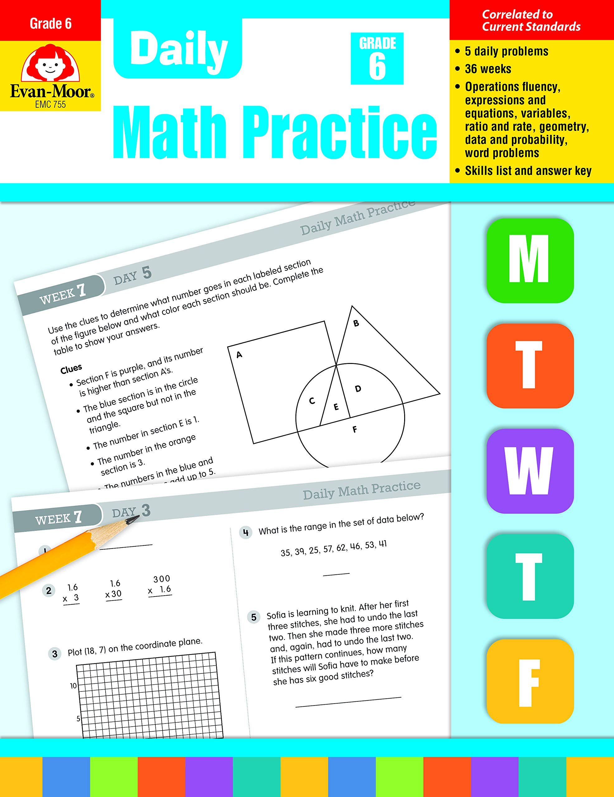 Daily Math Practice Grade 6: Wes Tuttle: 0023472007551