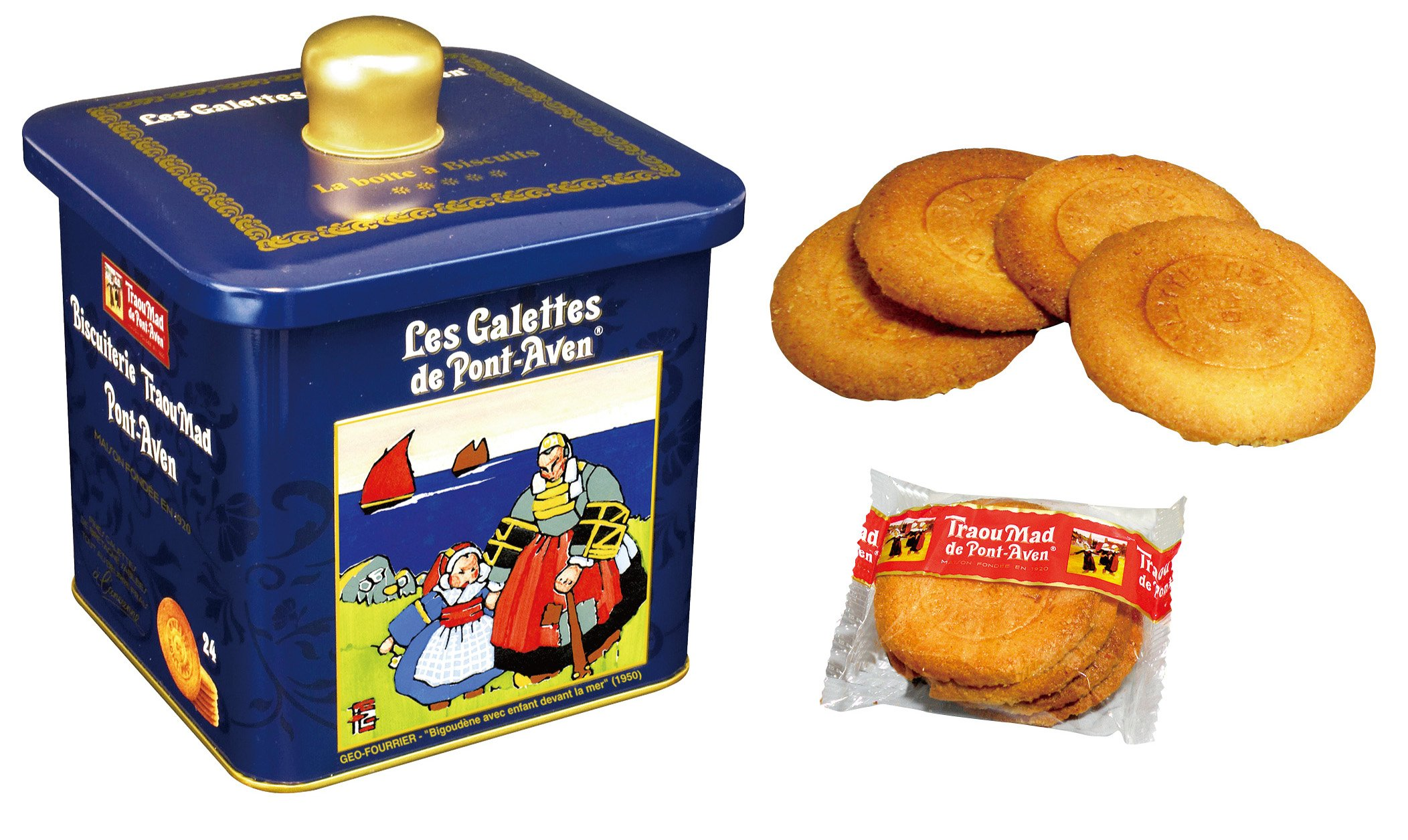 The Traou Mad de Pont-Aven - thin french butter cookies in a decorative tin