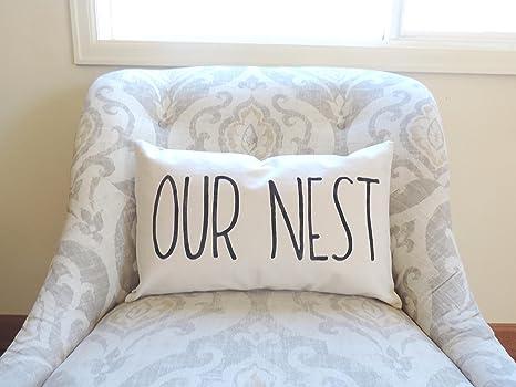 Amazon Com Tina R Our Nest Home Decor Pillow Our Nest