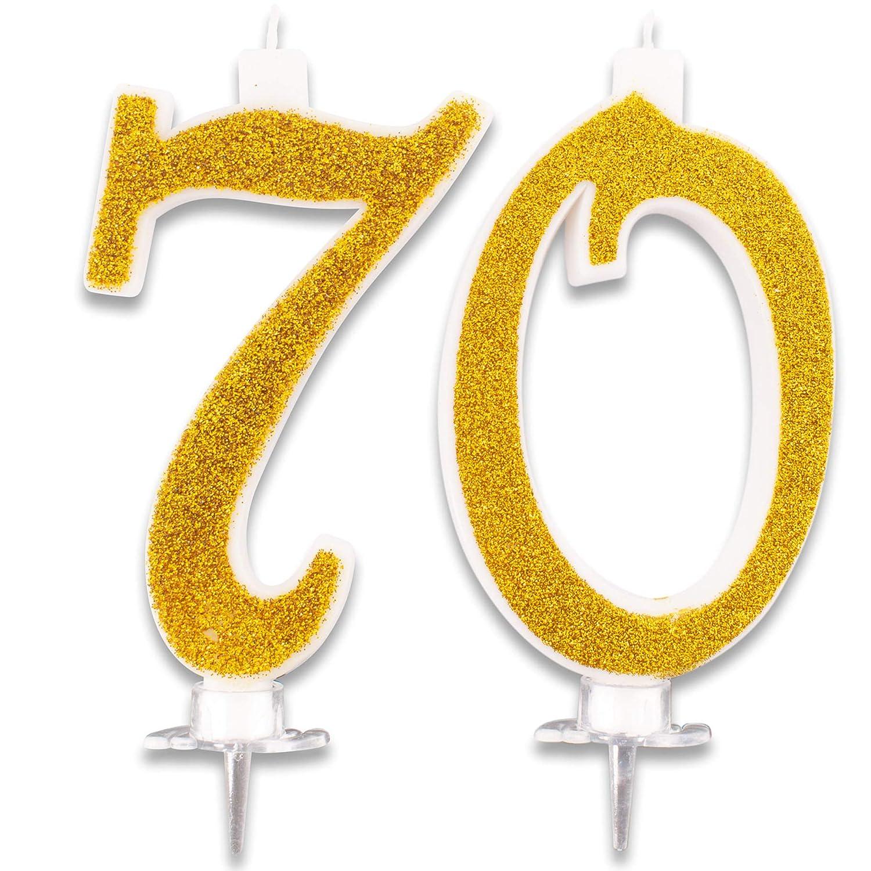Velas Maxi de 70 años para Tarta de Fiesta de cumpleaños 70 ...
