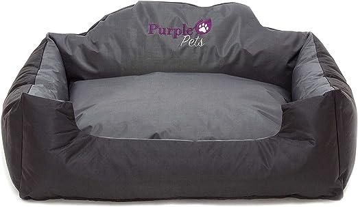 Cama para Perro, Cama para Gato, Cama de Mascota, Suave Sofá Cesta, resistente al agua, Fácil limpieza! Purple-Pets (Medio, Negro): Amazon.es: Hogar