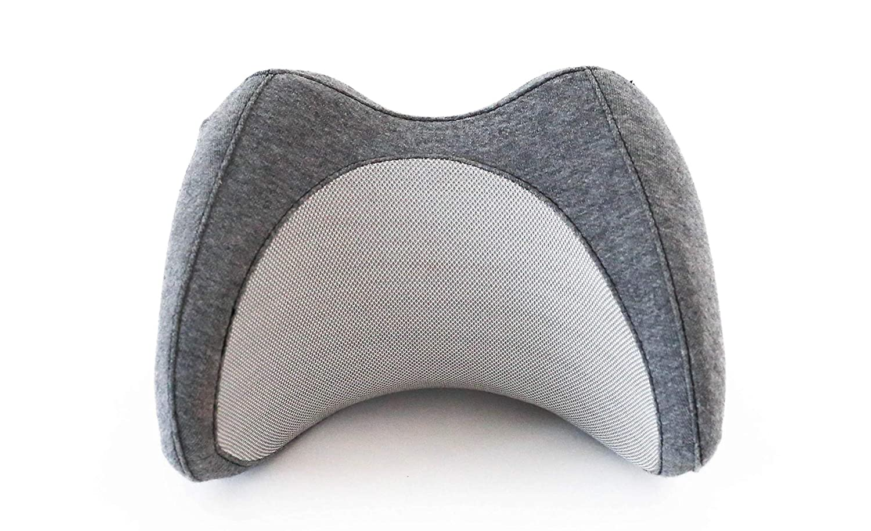 Vestia Ergonomic Car Pillow Portable Small Car Neck Pillow, Supportive Memory Foam Neck Pillow with Cooling Ventilation Gray