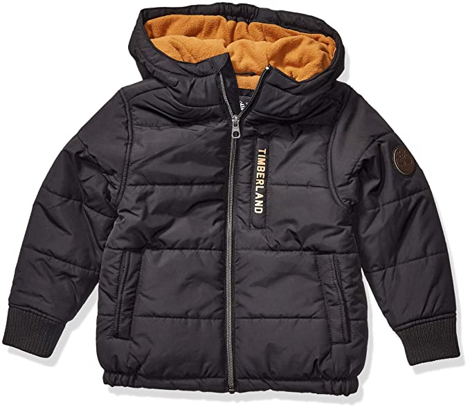 Timberland Boys' Full Zip Heavyweight Puffer Jacket Down
