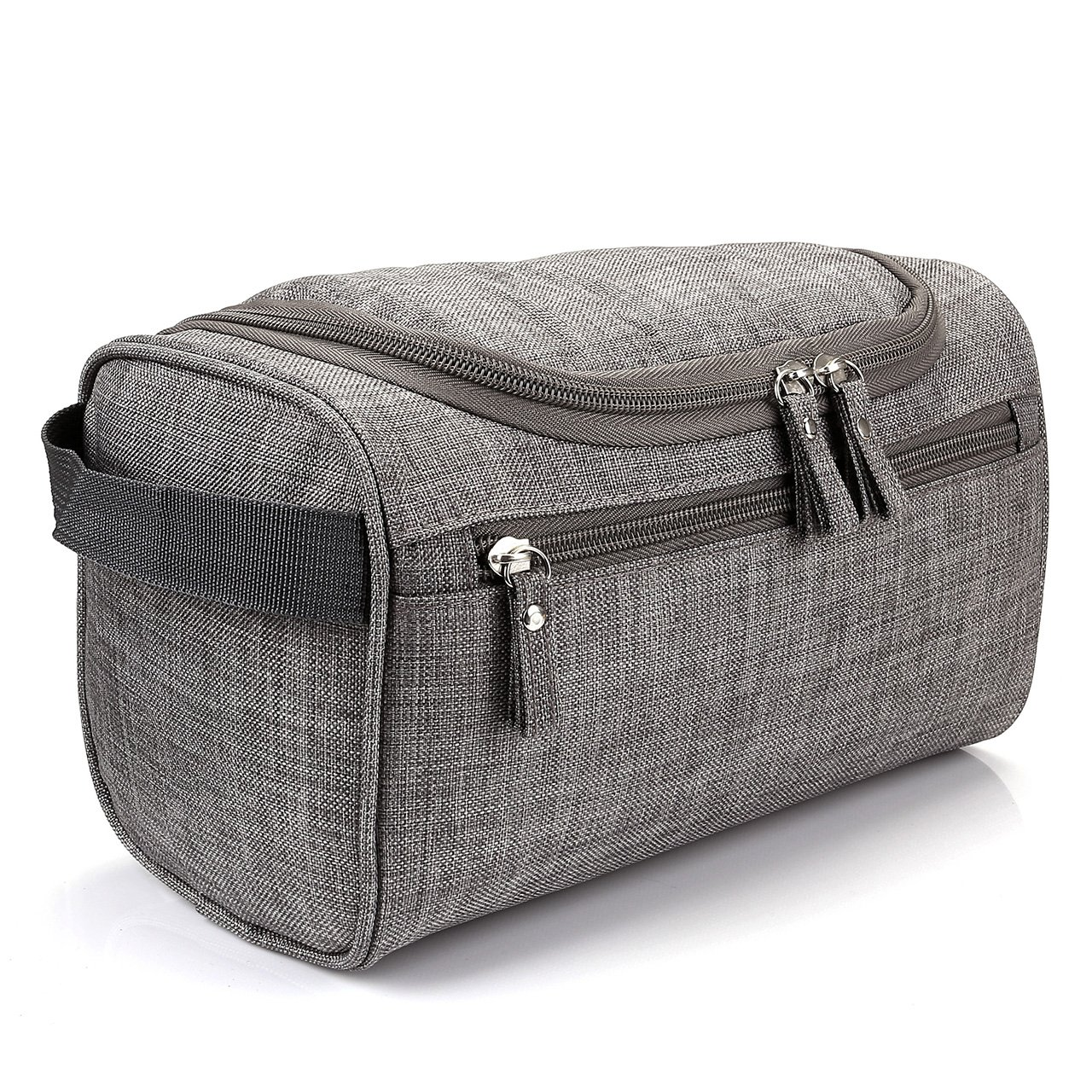 CozyCabin Travel Toiletry Bag, Hanging Waterproof Dopp Kit for Shaving Makeup Accessories, Men s Cosmetic Organizer with Large Capacity for Gym, Vacation, Business Trip Frosted Grey