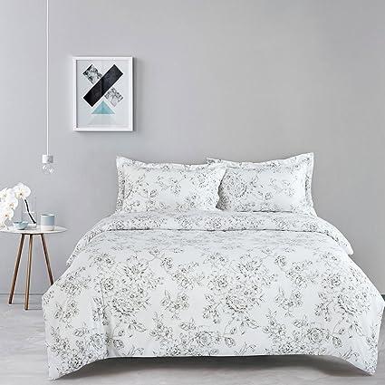 White Floral Duvet Cover