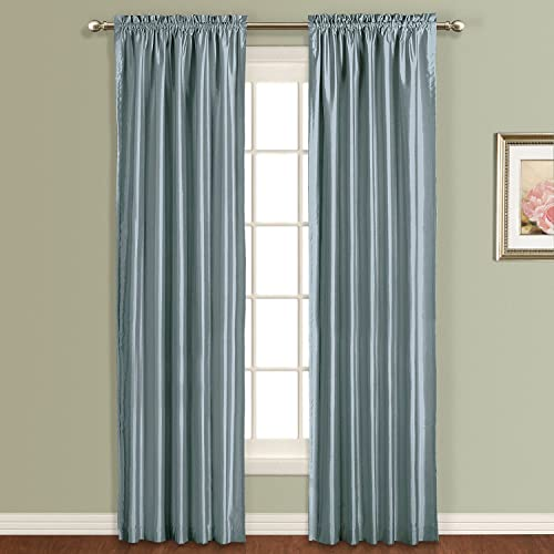 United Curtain Anna Window Curtain Panel, 54 by 63-Inch, Blue