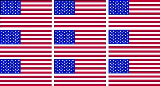 Etaia 9x Mini Premium Aufkleber 2 5x4 8 Cm T Fahne Flagge Der Usa Amerika America Kleine Länder Sticker Fürs Auto Motorrad Fahrrad Bike Auto