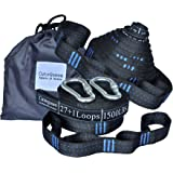 2pcs 56 Loops 3000+ LBS Versatile Heavy Duty & 100% No Stretch Suspension System Kit FOR Camping Hammock Includes Carry Bag by Cutequeen (pack of 2) …