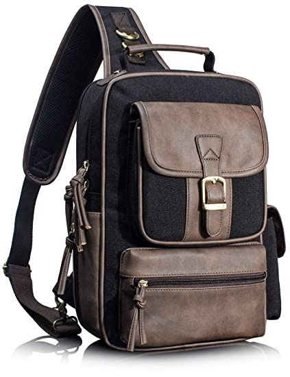 205fc01060d3 Leaper Retro Messenger Bag Unisex Crossbody Bags Travel Bag Satchel Black