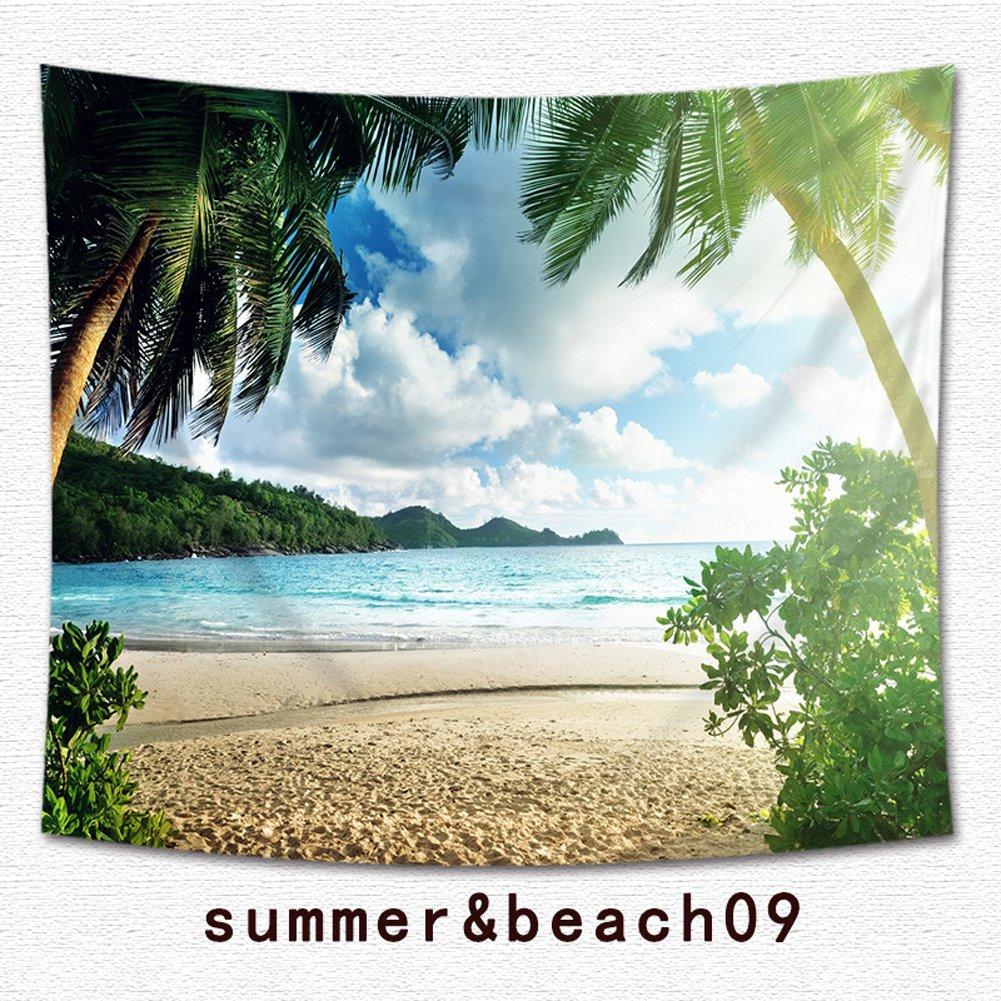 Poliestere Beach Tropical Palm Tapestry multiuso Ocean Decor vacanza surf Decor arazzo da parete per soggiorno e camera Hawaii Beach Bright Sea Theme stampa dormitorio decorazione 59x51 10