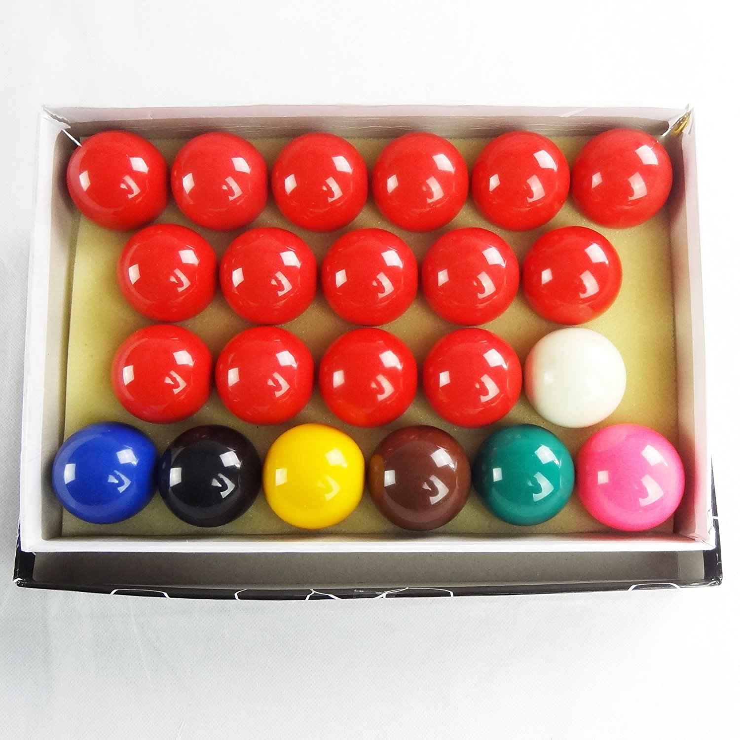 Mace Snooker Ball Set American Snooker Balls Billiard Balls Pool Balls, Complete 22 Ball Set, 2-1/16