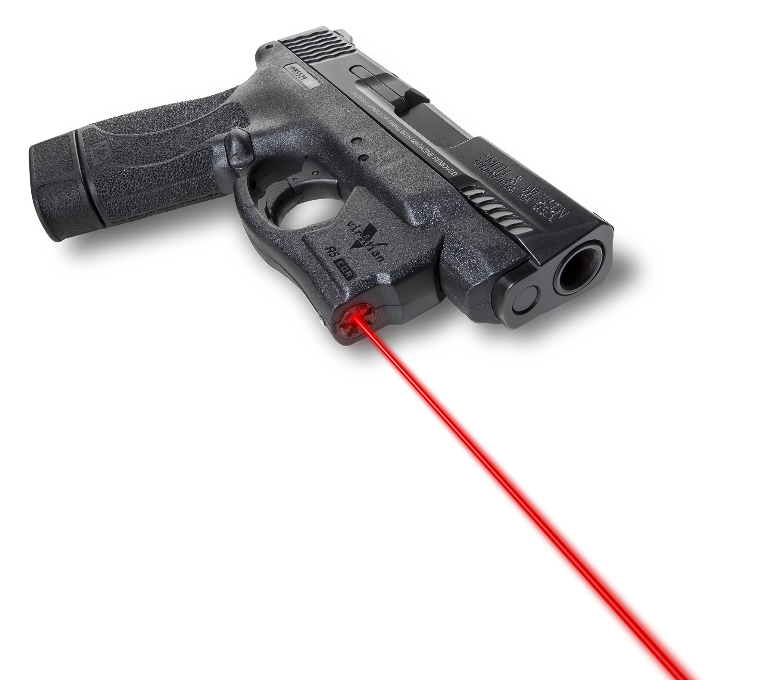 VIRIDIAN WEAPON TECHNOLOGIES, Reactor 5 Gen II Red Laser, Smith & Wesson M&P Shield with ECR Instant On Holster, Black, Fits: S & W M & P Shield by VIRIDIAN WEAPON TECHNOLOGIES