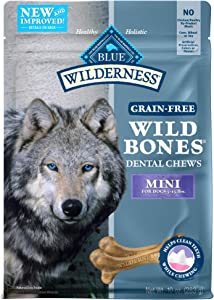 Blue Buffalo Wilderness Wild Bones Grain Free Dental Chews Dog Treats