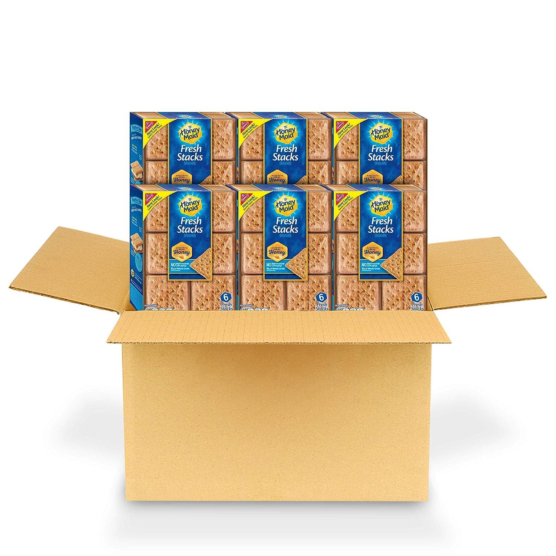 Honey Maid Fresh Stacks Graham Crackers, 6 Boxes of 6 Stacks (36 Total Stacks)