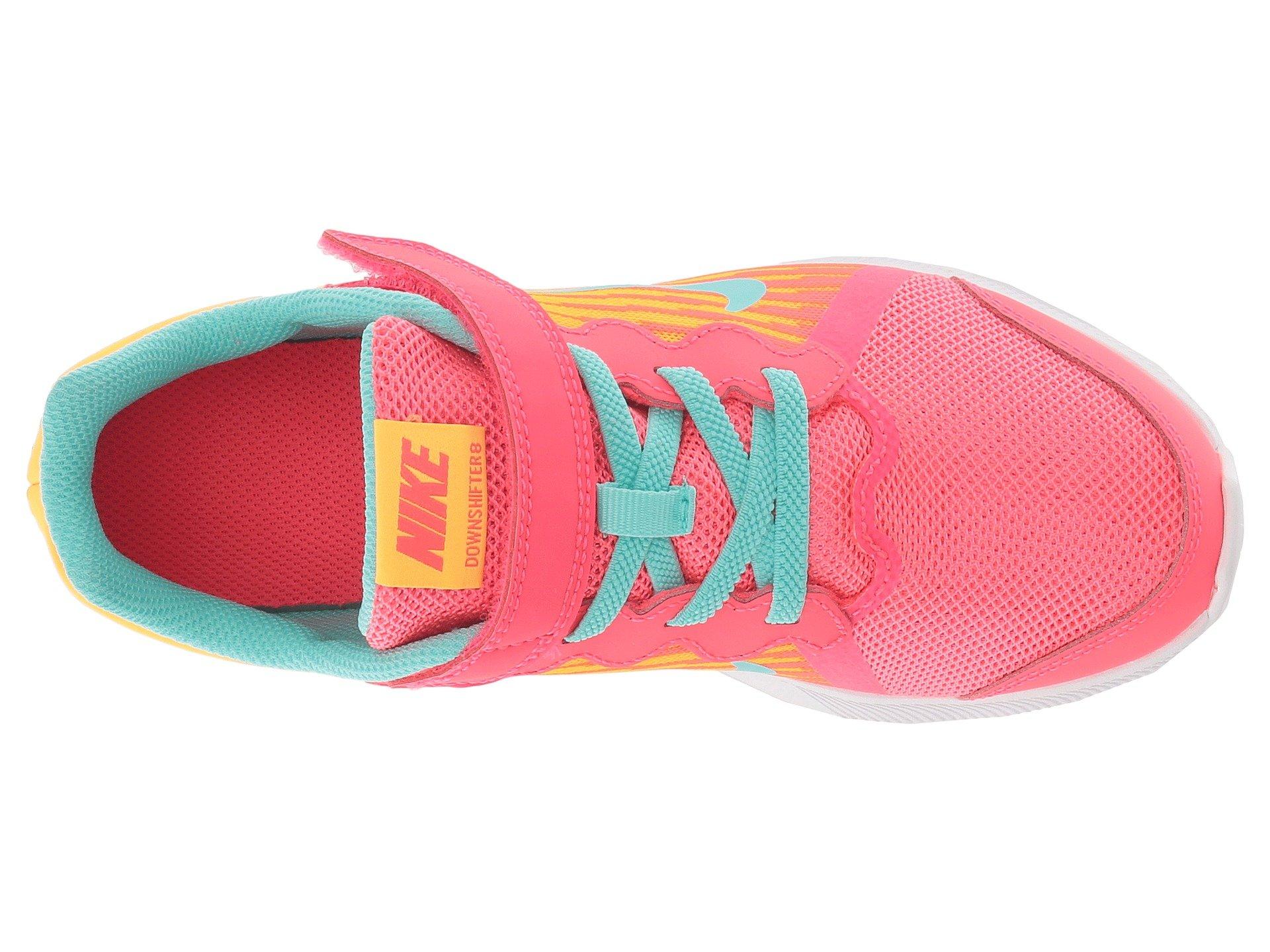 Nike Kids' Preschool Downshifter 8 Fade Running Shoes (1.5, Red/Green) by Nike (Image #9)