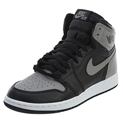 Jordan Nike Air 1 Retro High OG Kids Black Grey White 575441-013 b7f9addd7