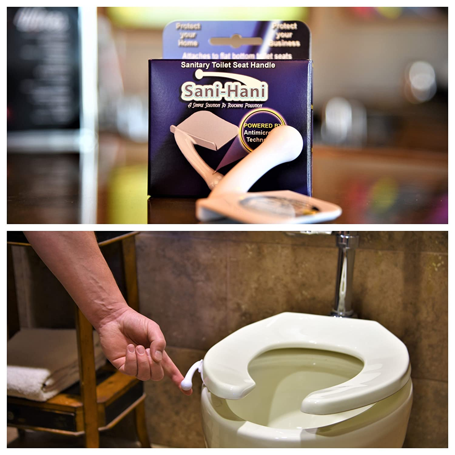Amazon.com: Sani-Hani Antimicrobial Toilet Seat Lifter/Handle - Best ...