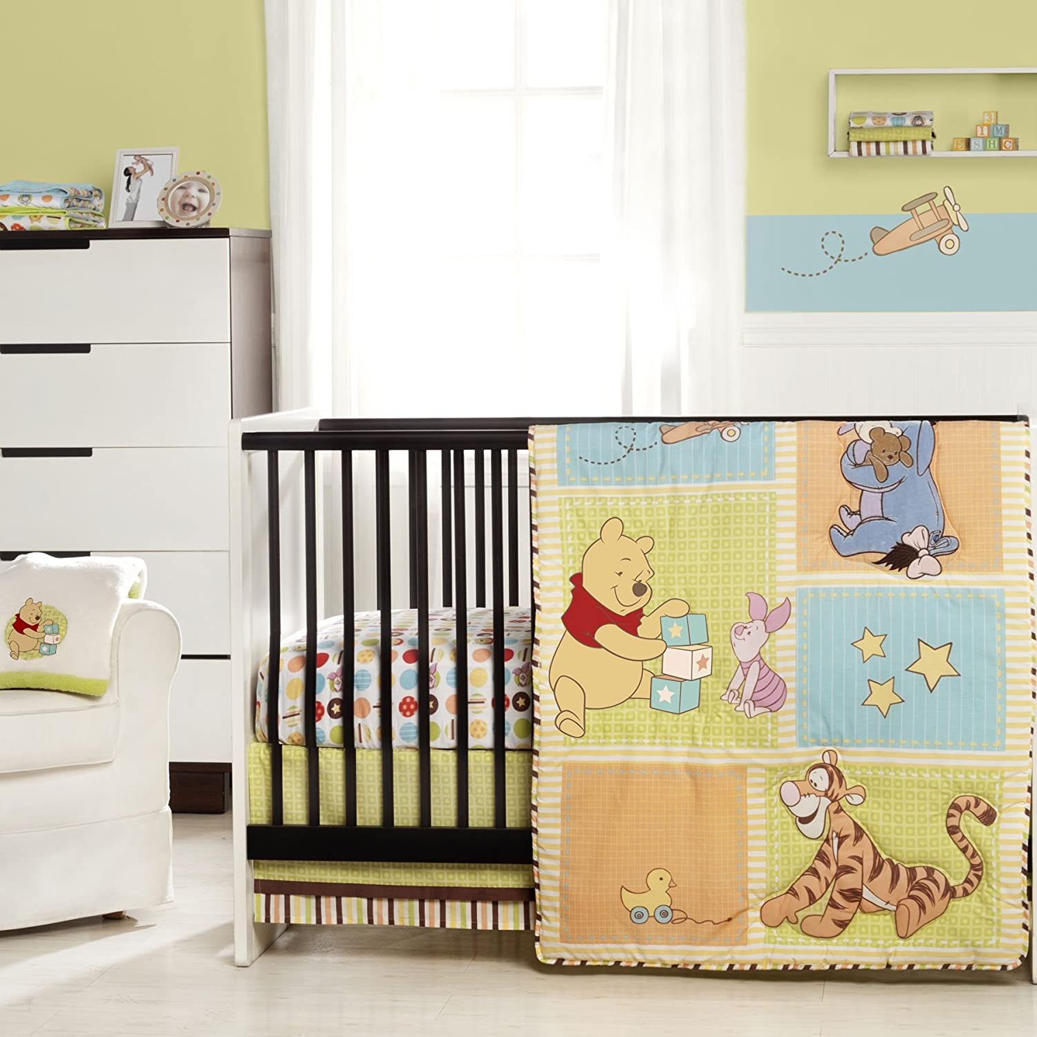 Amazon WINNIE THE POOH Tidy Time 3 Piece Crib Bedding Set Baby