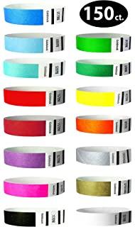 Day Glow Over 21 Swirls TYVEK Wristbands 500 in a pack