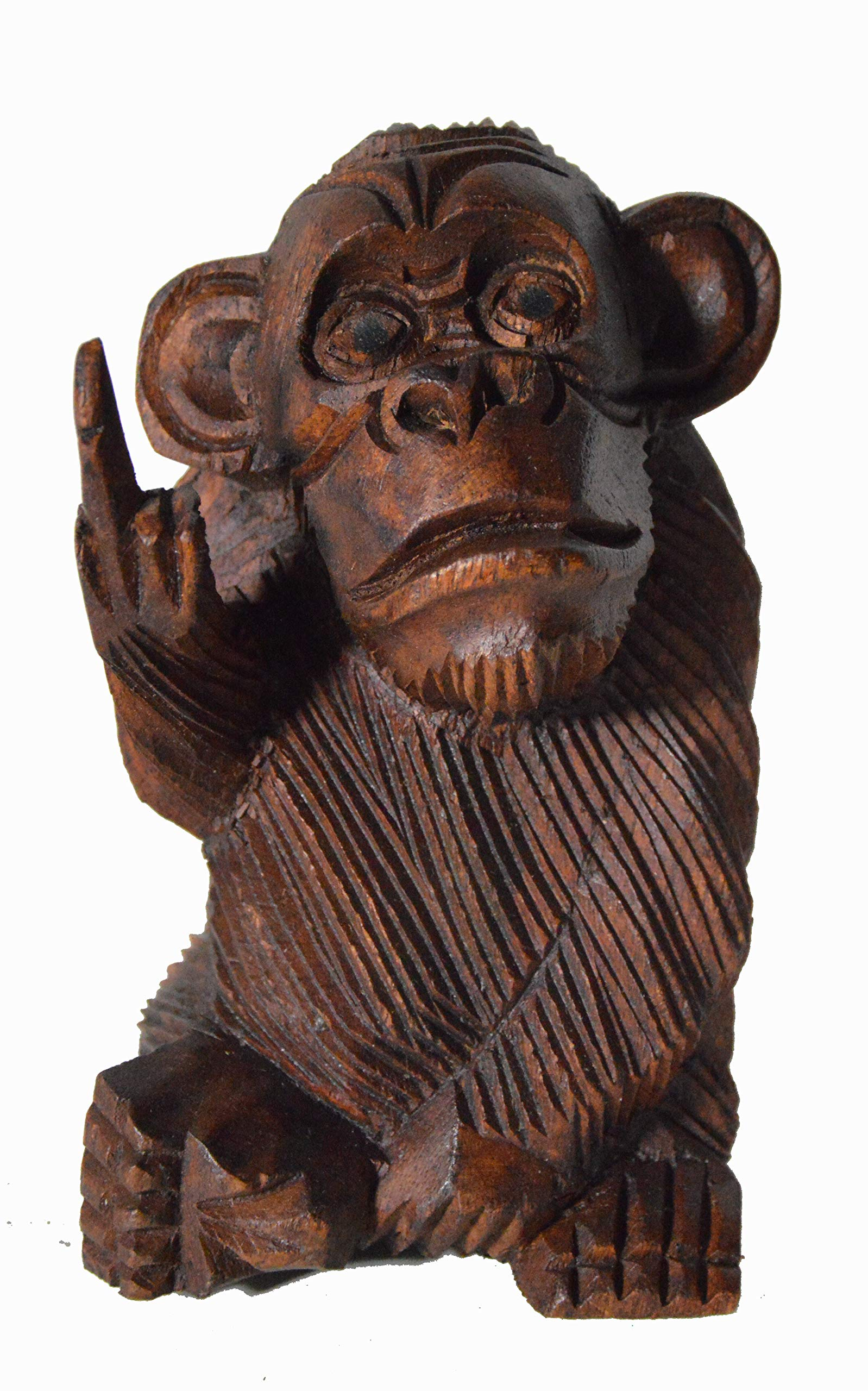 BAD MONKEY RUDE FLIPPING THE BIRD GIVING FINGER STATUE 6 IN worldbazzar brand by WorldBazzar