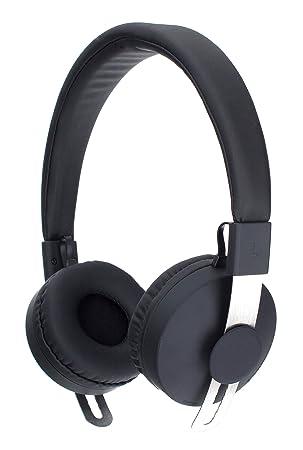 bf0bd7f6738 Xqisit Over Ear Bluetooth Headset - Black: Amazon.co.uk: Electronics