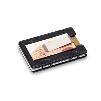 m1 slim wallet credit card holder with money clip including rfid blocking technology - Money Clip And Card Holder