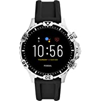 Fossil Gen 5 Garrett Smartwatch Stainless Steel Silicone Strap with Touch Screen, Speaker, Heart Rate, GPS, NFC, and…