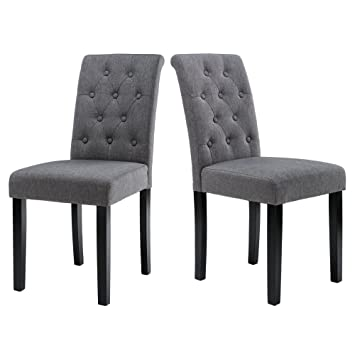 Amazon Com Lssbought Button Tufted Upholstered Fabric Dining