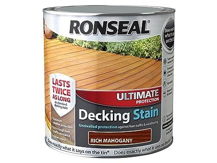 Ronseal UDSRM25L 2,5 l máxima protección Decking mancha, color caoba